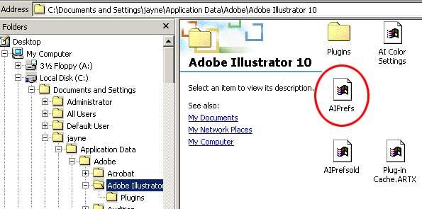 Illustrator 10 Program Layout